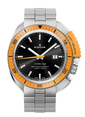 poza Edox HydroSub Diver Taucheruhr 53200 3OM NIN