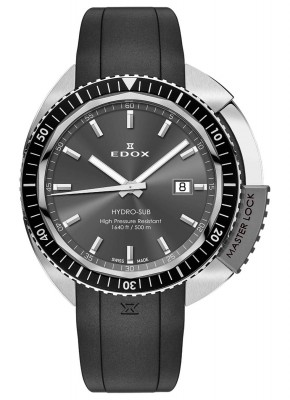 poza Edox HydroSub Herren Taucheruhr 53200 3NGCA GIN