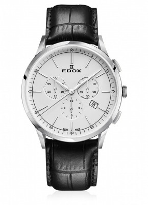 poza Edox Les Vauberts Chronograph Date Quarz 10236 3C AIN