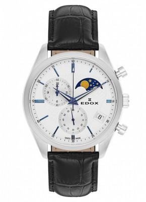 poza Edox Les Vauberts Chronograph Mondphase Date Quarz 01655 3 AIBU