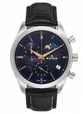 poza Edox Les Vauberts Chronograph Mondphase Date Quarz 01655 3 BUIR