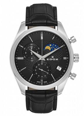 poza Edox Les Vauberts Chronograph Mondphase Date Quarz 01655 3 NIN