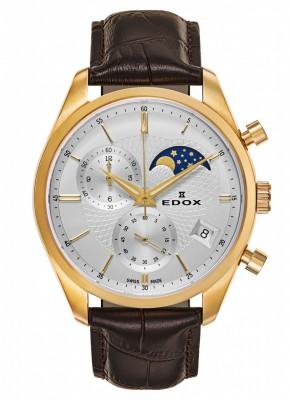poza Edox Les Vauberts Chronograph Mondphase Date Quarz 01655 37J AID