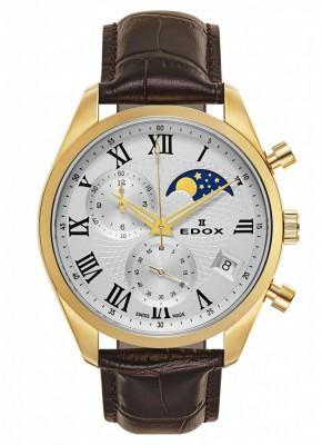 poza Edox Les Vauberts Chronograph Mondphase Date Quarz 01655 37J ARD