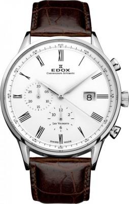 poza ceas Edox Les Vauberts Chronograph Steel 4
