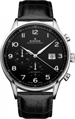 poza ceas Edox Les Vauberts Chronograph Steel Black