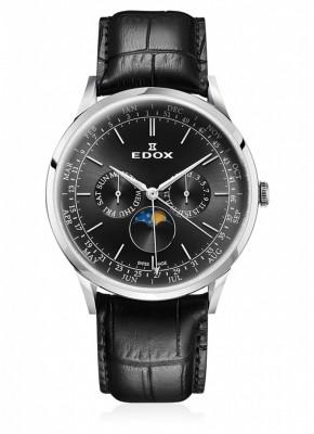 poza Edox Les Vauberts Moon Phase Complication 40101 3C NIN