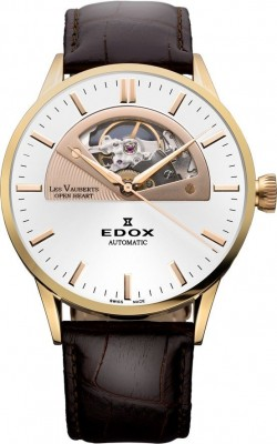 poza Edox Les Vauberts Open Heart Automatic 85014 37R AIR