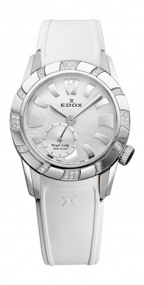 poza ceas Edox Royal Lady Steel White