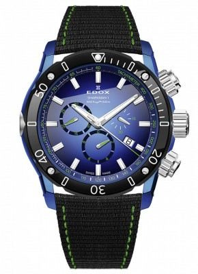 poza ceas Edox Sharkman I Limited Edition Chronograph 10221 357BU BUV