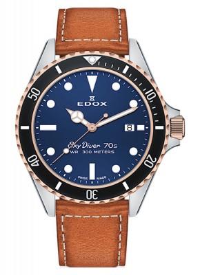 poza Edox SkyDiver 70s Date Date Quarz 53017 357RNC BUI