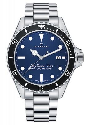 poza Edox SkyDiver 70s Date Date Quarz 53017 3NM BUI
