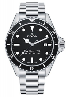 poza Edox SkyDiver 70s Date Date Quarz 53017 3NM NI
