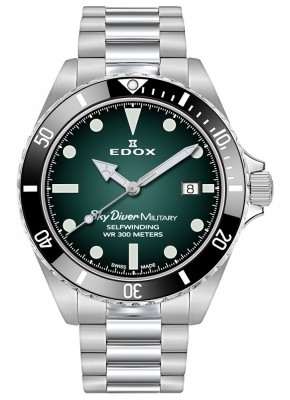 poza Edox SkyDiver Military Limited Edition Date Automatic 80115 3N VD