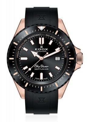 poza Edox SkyDiver Neptunian Date Automatic 80120 37RNNCA NIR