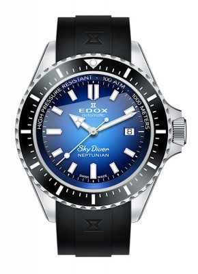poza Edox SkyDiver Neptunian Date Automatic 80120 3NCA BUIDN