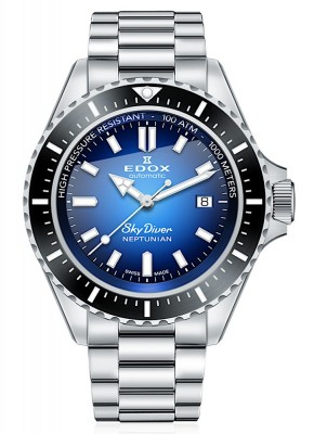 poza Edox SkyDiver Neptunian Date Automatic 80120 3NM BUIDN
