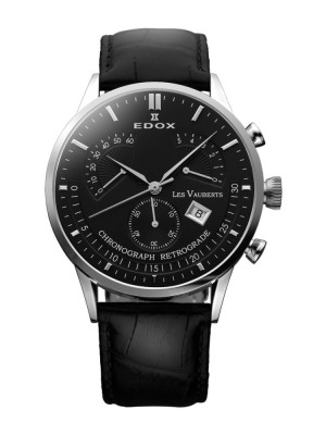 poza ceas Edox Vauberts Steel Black