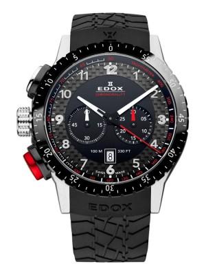 poza ceas Edox WRC Chronograph Black Steel 2