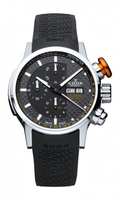 poza ceas Edox WRC Chronorally Steel Black