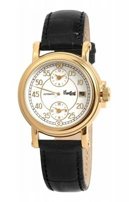 poza ceas Engelhardt Harold Gold Black Leather