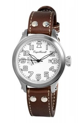poza Engelhardt James Steel White Brown Leather