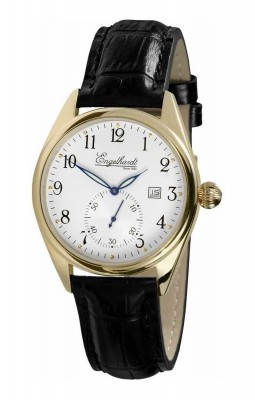 poza ceas Engelhardt William Gold Black Leather