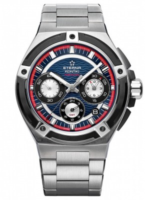 poza ceas Eterna Royal Kontiki Chronograph GMT Manufacture 7760.42.80.0280