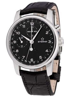 poza ceas Eterna Soleure Moonphase Chrono Steel Black