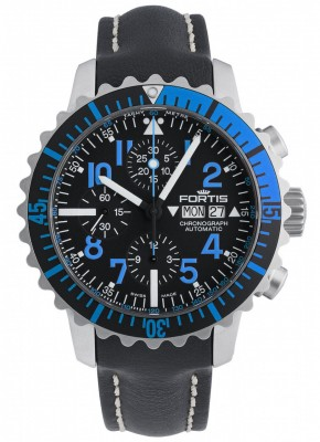 poza Fortis Aquatis Marinemaster Chronograph Blue 671.15.45 L.01