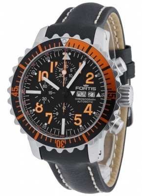 poza Fortis Aquatis Marinemaster Chronograph Orange 671.19.49 L.01
