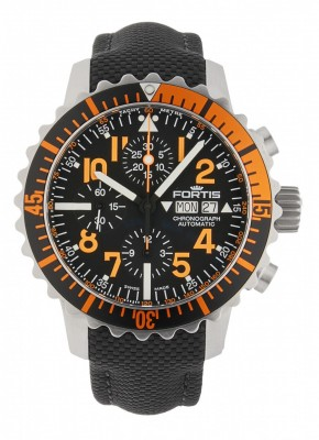 poza Fortis Aquatis Marinemaster Chronograph Orange 671.19.49 LP