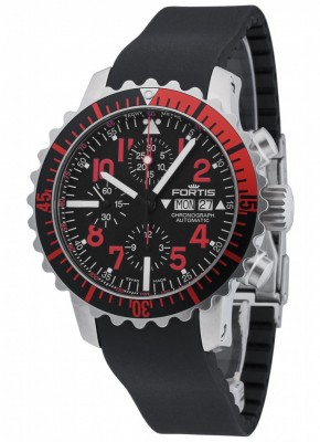poza Fortis Aquatis Marinemaster Chronograph Red 671.23.43 K