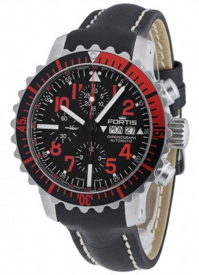 poza Fortis Aquatis Marinemaster Chronograph Red 671.23.43 L.01