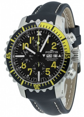 poza Fortis Aquatis Marinemaster Chronograph Yellow 671.24.14 L.01