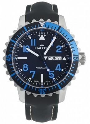 poza Fortis Aquatis Marinemaster DayDate Blue 670.15.45 L.01