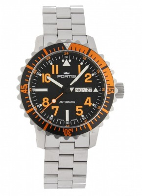 poza Fortis Aquatis Marinemaster DayDate Orange 670.19.49 M
