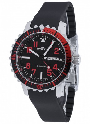 poza Fortis Aquatis Marinemaster DayDate Red 670.23.43 K