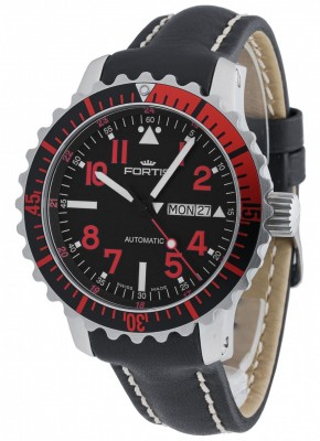 poza Fortis Aquatis Marinemaster DayDate Red 670.23.43 L.01