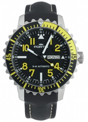poza Fortis Aquatis Marinemaster DayDate Yellow 670.24.14 L.01