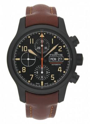 poza ceas Fortis Aviatis Aeromaster Stealth Chronograph 656.18.18 L.18