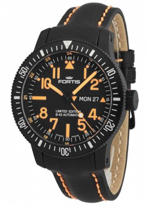 poza ceas Fortis B42 Black Mars 500 DayDate 647.28.13 L.13 Limited Edition