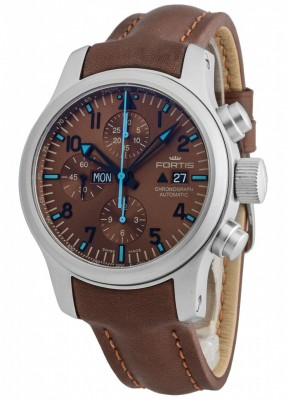 poza ceas Fortis B42 Blue Horizon Chronograph Limited Edition 656.10.95 L.18
