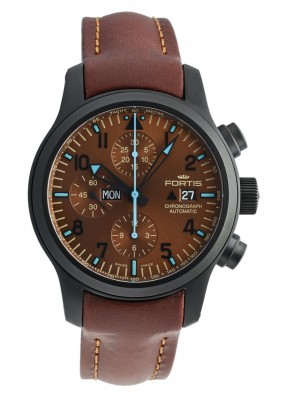 poza Fortis B42 Blue Horizon Chronograph PVD Limited Edition 656.18.95 L.18