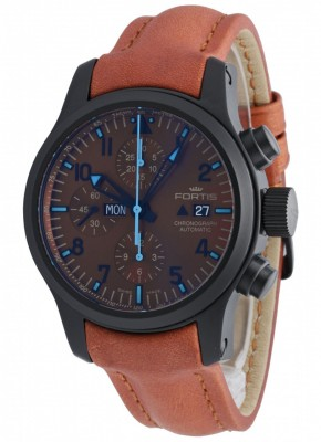 poza Fortis B42 Blue Horizon Chronograph PVD Limited Edition 656.18.95 L.38
