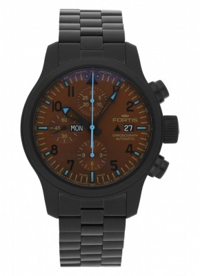 poza Fortis B42 Blue Horizon Chronograph PVD Limited Edition 656.18.95 M