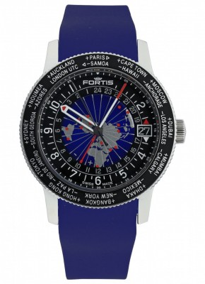 poza Fortis B47 World Timer GMT 674.21.11 Si.05