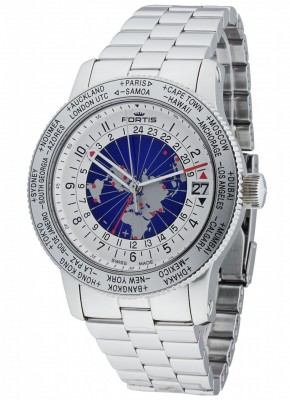 poza Fortis B47 World Timer GMT Automatic 674.20.15 M