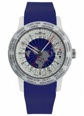poza Fortis B47 World Timer GMT Automatic 674.20.15 Si.05