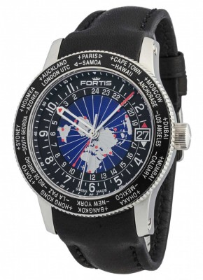 poza Fortis B47 World Timer GMT Automatic 674.21.11 L.01
